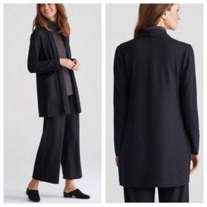 Eileen Fisher Shawl Collar Jacket Boiled Wool Sz M